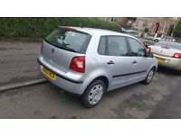 Volkswagen Polo 1.2. 5 door . MOT .24JULY 2017
