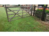 5 bar Wooden gate 300cm x 125cm