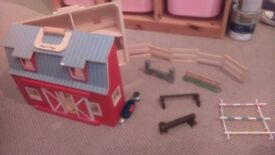 Stables wooden foldaway toy with accessories