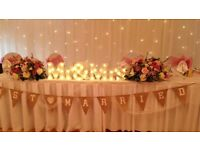 Light Up Mr and Mrs sign