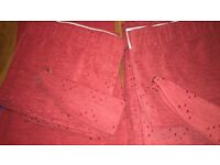 Heavy Duty Lined Curtains with Pelmet and Tie Backs