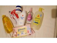 Bundle of baby bathing items plus brush&comb &Bennett's bum cream new