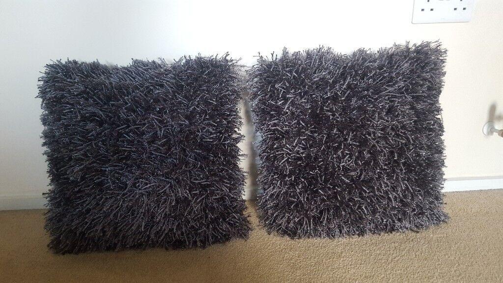 Next grey glimmer cushions pair.