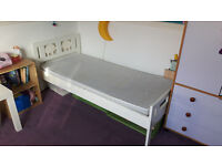 Ikea childrens bed, mattress and 2 sheets (70x160cm)