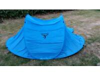 Moon tent 2 person pop up camping tent blue