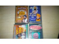 Punjabi songs/religious Tapes over 60 with storage cases