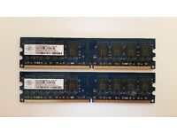 2x DDR2 1GB for PC