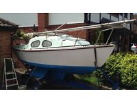 19' Fantasie Yacht with Outboard ready to go ## End of season bargain ##