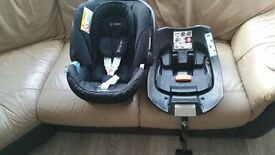 Cybex Atom Baby Car Seat And Isofix With Raincover.
