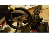 logitech g25 steering wheel + stand pc ps xbox