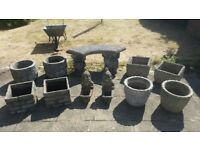 Concrete Garden Planters and ornaments