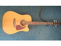 Fender DG-14SCE Electro Acoustic Guitar with soft case
