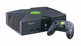 XBOX Original XBOX with leads and controllers