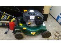 Petrol lawn mower, good condition.