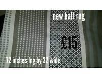 New hall rug