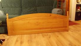 King Size Headboard Pine - £30.00