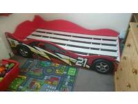 Kids childs boys racing car bed