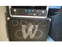 Warwick ProFet IV 400 Watt Head with warwick wca 211 pro 2x10 400 watt bass speaker cabinet