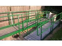 Dismantled Wheelchair Access Ramp with Handrails - U-Shape - 6 Sections