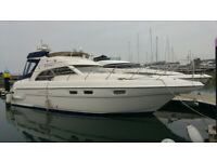 1998 Sealine F43 Aft Cabin Motor Cruiser Boat 2 owners from new, current owner 17 years