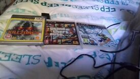 3 PS3 games. SSX, Grand theft auto 5 and killzone 3