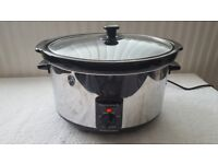 Morphy Richards Electric 6.5l Large Stainless Steel Oval Slow Cooker Pot 48715A