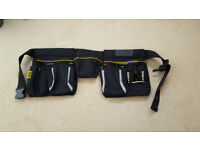 Stanley Multi pocket Tool Pouch with hammer clasp, tool pockets and workbelt - as new.