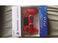 PS4 Controller Red. New. Sealed.