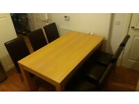 big wooden Dining Table ( no chairs)