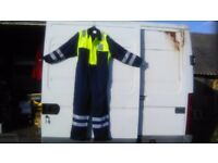 Padded boiler suit navy/yellow size 46 chest new and unworn £20 collect