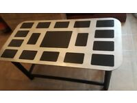 Steel picture frame coffee table