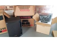 Aiwa 5 piece Speaker System in original packaging and bearly used