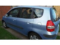 Honda Jazz 1.4. 62k miles. MOT due March 2017, newly replaced clutch kit. full service history.