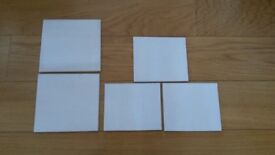 Off cuts of ceramic tiles. Offwhite colour. Useful as splashback.