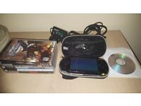 Psp bundle with 32gb memory card and retro games