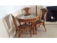 Rattan table with 4 chairs