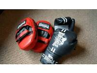 Lonsdale Boxing Punch and Kick Training Pads and Gloves