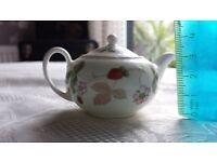 Wedgwood Wild Strawberry Miniature Tea Pot