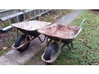 2 (Two) Used Wheelbarrows