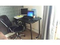 Ikea table top with office chair