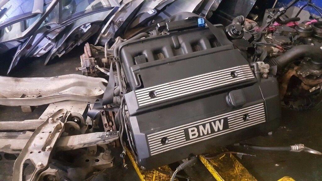 BMW 5 SERIES E39 2.2 LTR 6 CYLINDER PETROL ENGINE M54B22 titansilver BREAKING