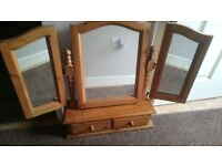 Triple cotswold pine mirror with storage