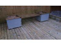 Garden bench and planter