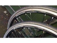 1 pair Ambrosio Bianchi 700c Road Racing Bike Wheels Spares Repair
