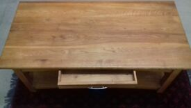Large Solid Oak coffe table