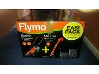 Flymo Easimo Lawnmower and Mini Trimmer Grass Trimmer