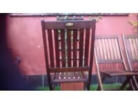 4 Winchester Collection solid teak garden chairs. In excellent condition.