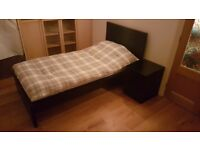 Single bed black IKEA MALM...Excellent condition with mattres