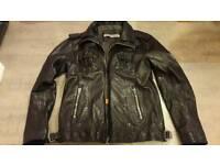 Superdry mens leather 'ryan' jacket