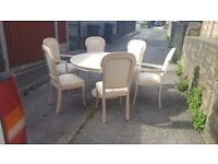 Circular table and 6 chairs